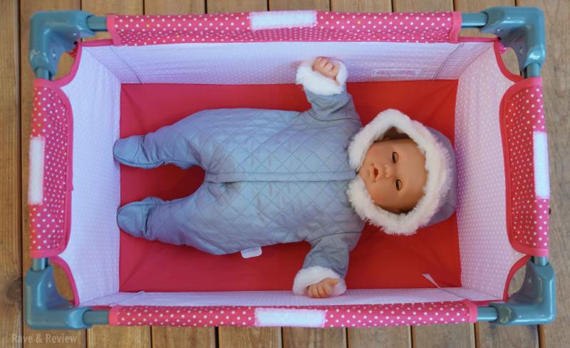 Corolle baby in crib sleeping