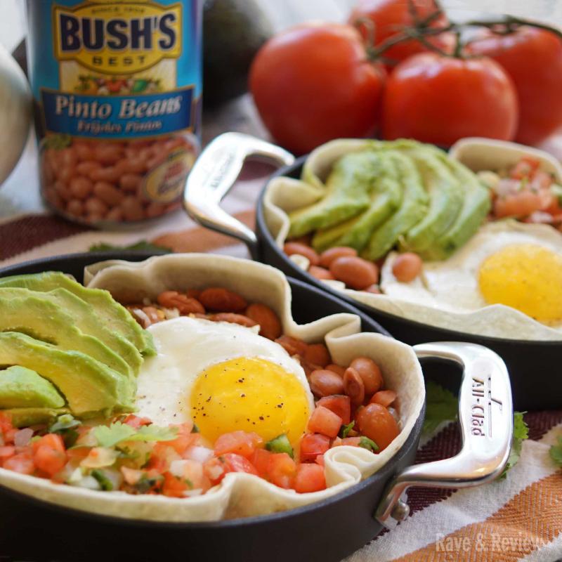 Huevos Rancheros with beans sq