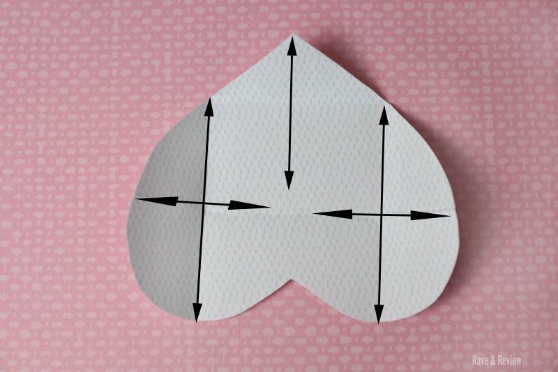 Heart envelope folding