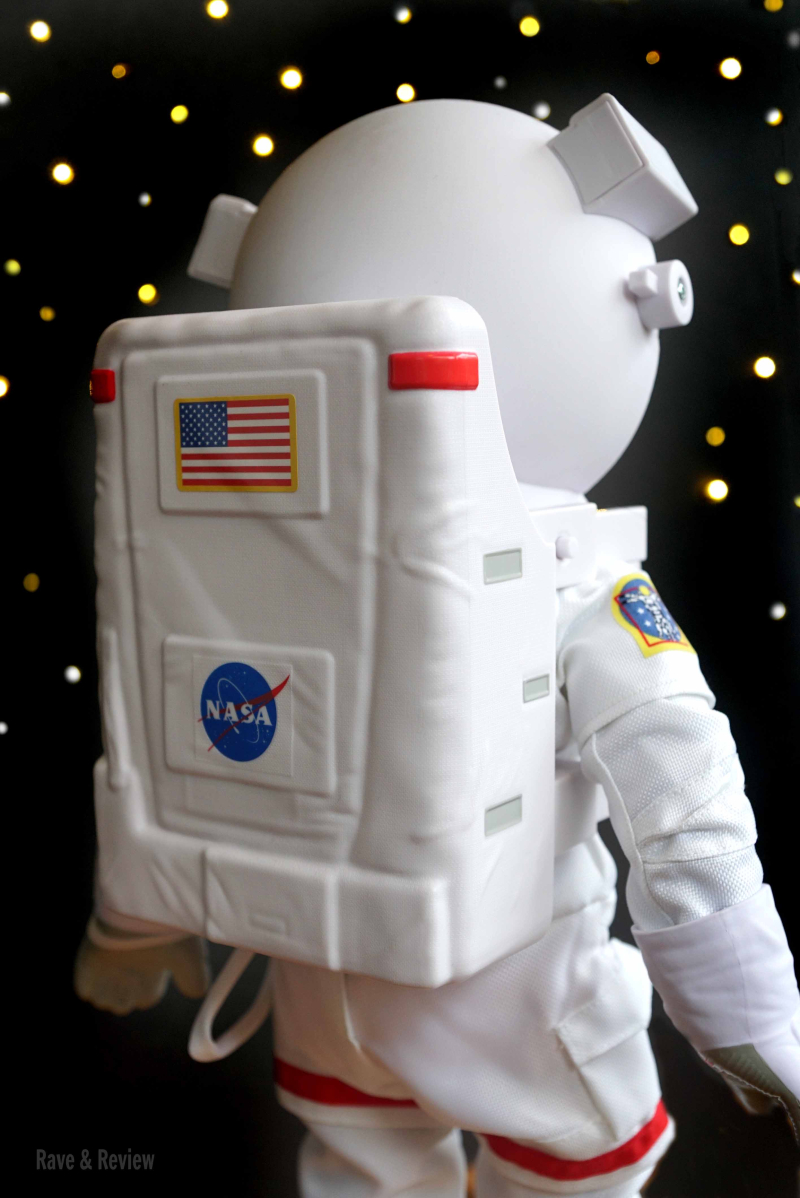 Luciana in astronaut suit