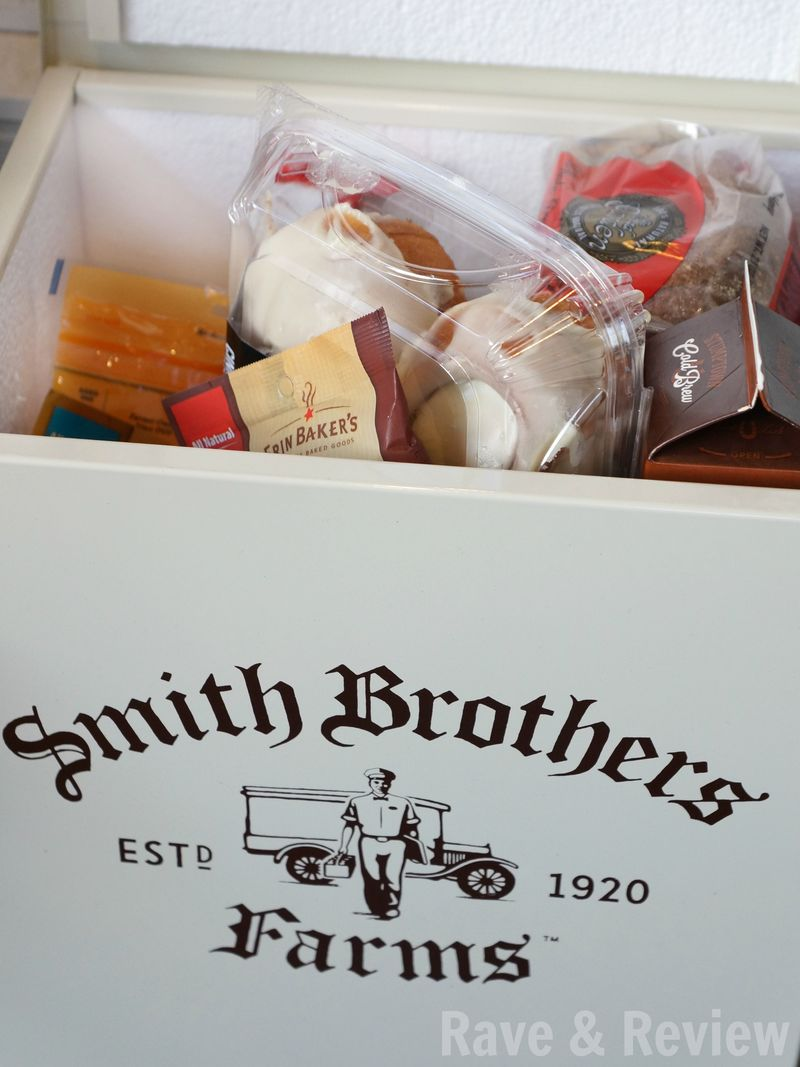 Smith Brothers Farms delivery in box open