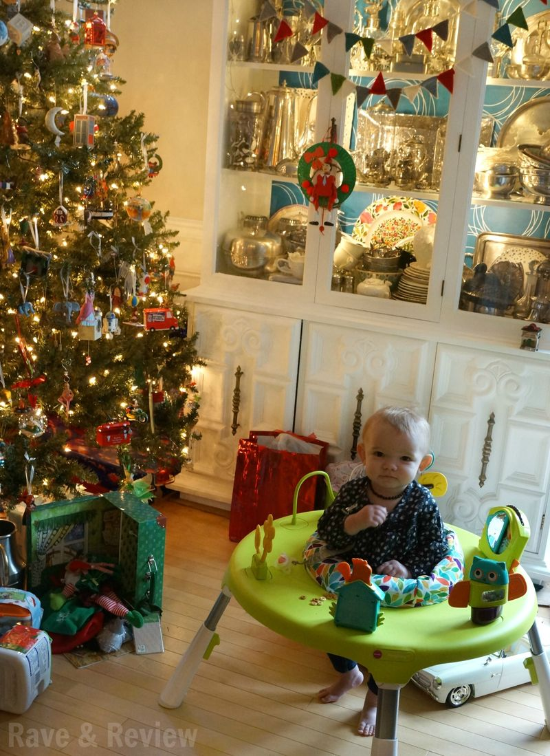 Baby under the tree for Christmas