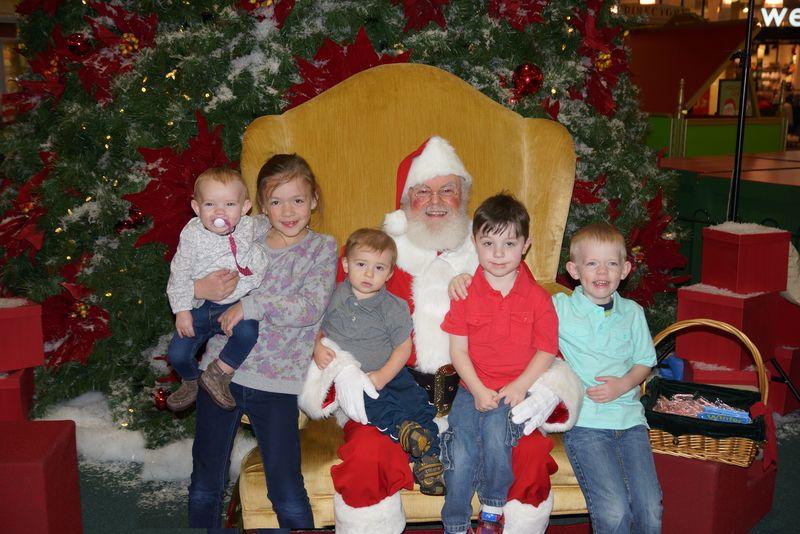 Cousins with Santa