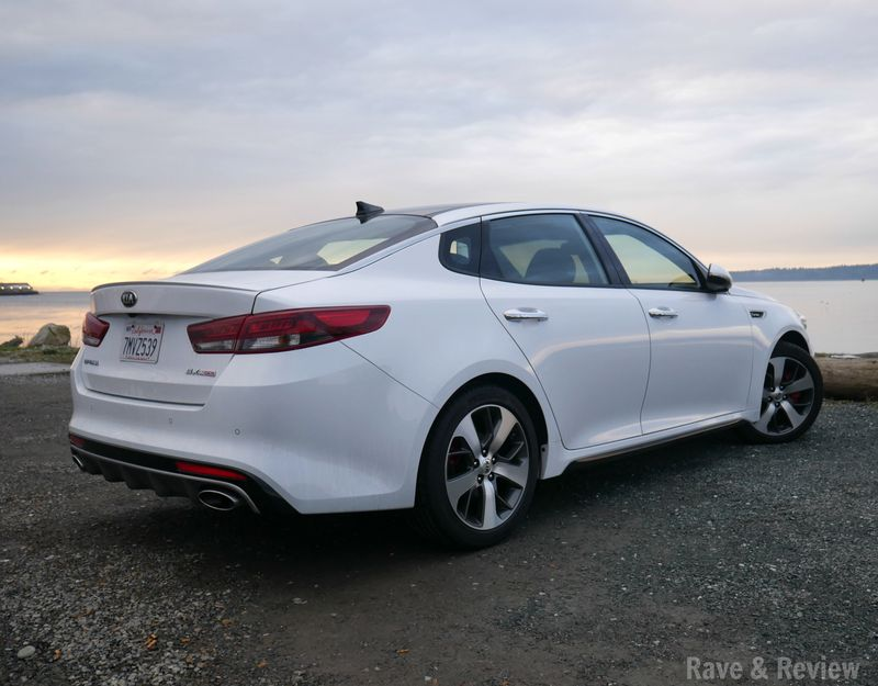 Kia Optima by beach