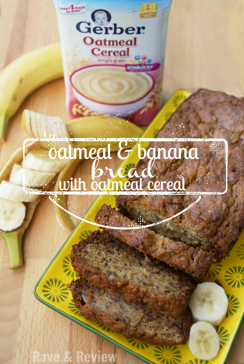 Oatmeal and banana bread with oatmeal cereal