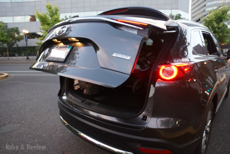 Mazda CX9 hatch opening