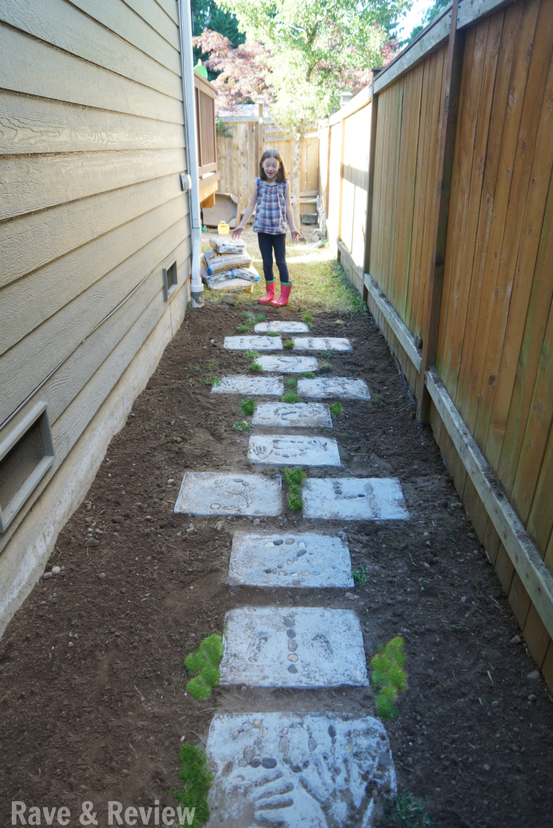 Hopscotch in side yard