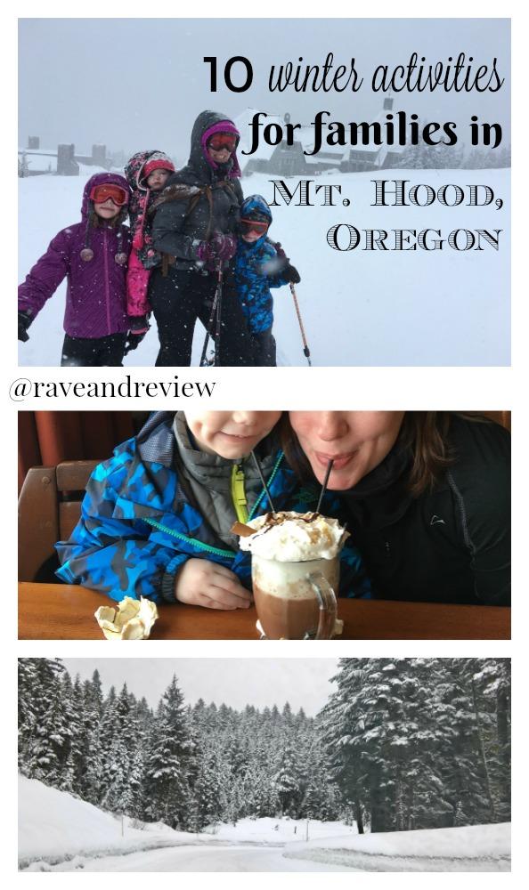 10 winter activities for families in Mt Hood Oregon