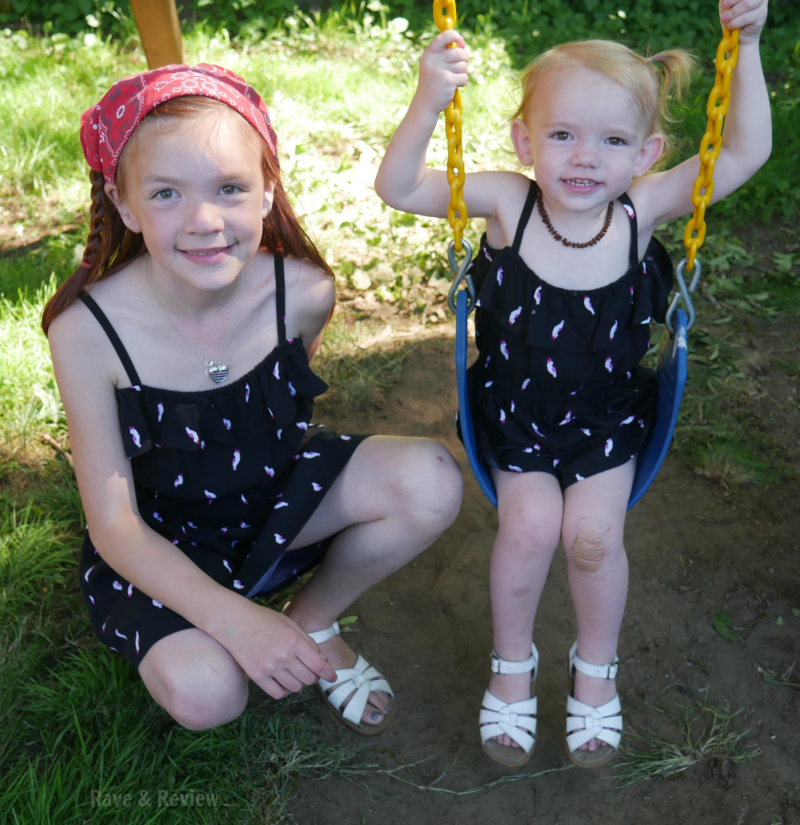 Gymboree dresses on swing