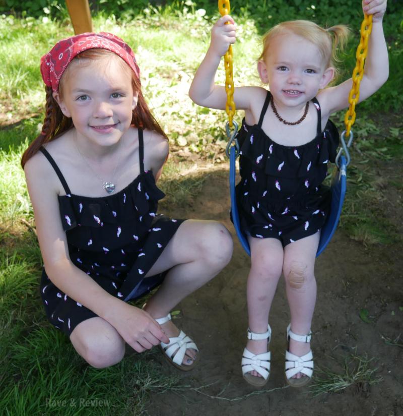 Gymboree dresses on swing