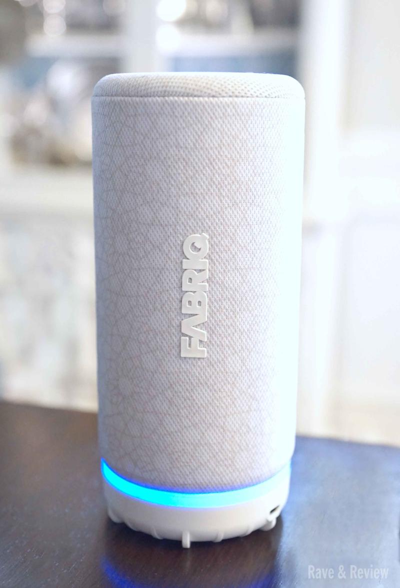 Fabriq speaker on shelf