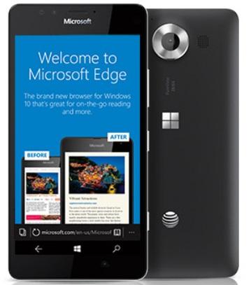 Microsoft Lumia 950 Microsoft Edge