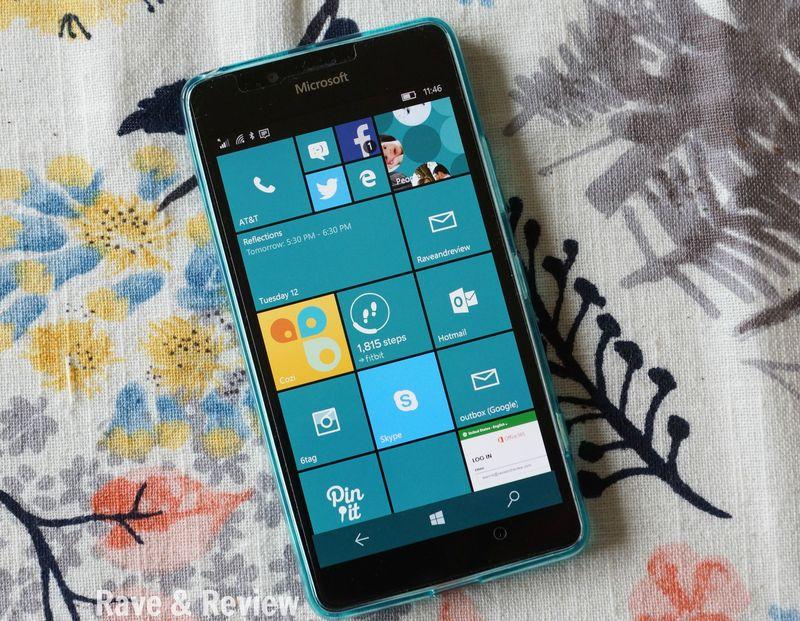 Lumia 950 tile screen