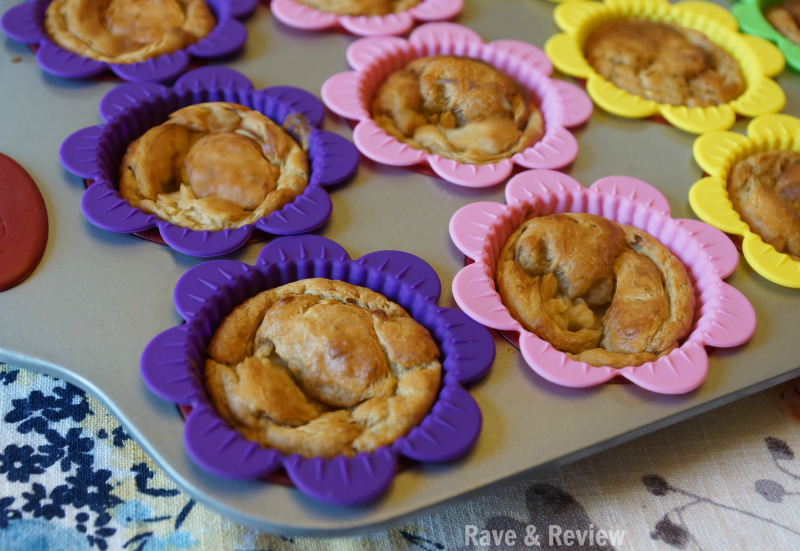 Banana muffins in pan