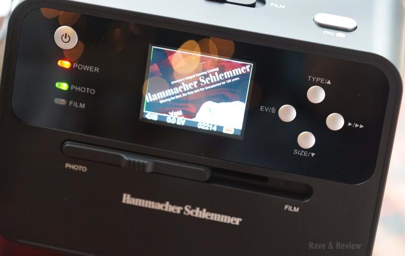 Hammacher photo scanner screen