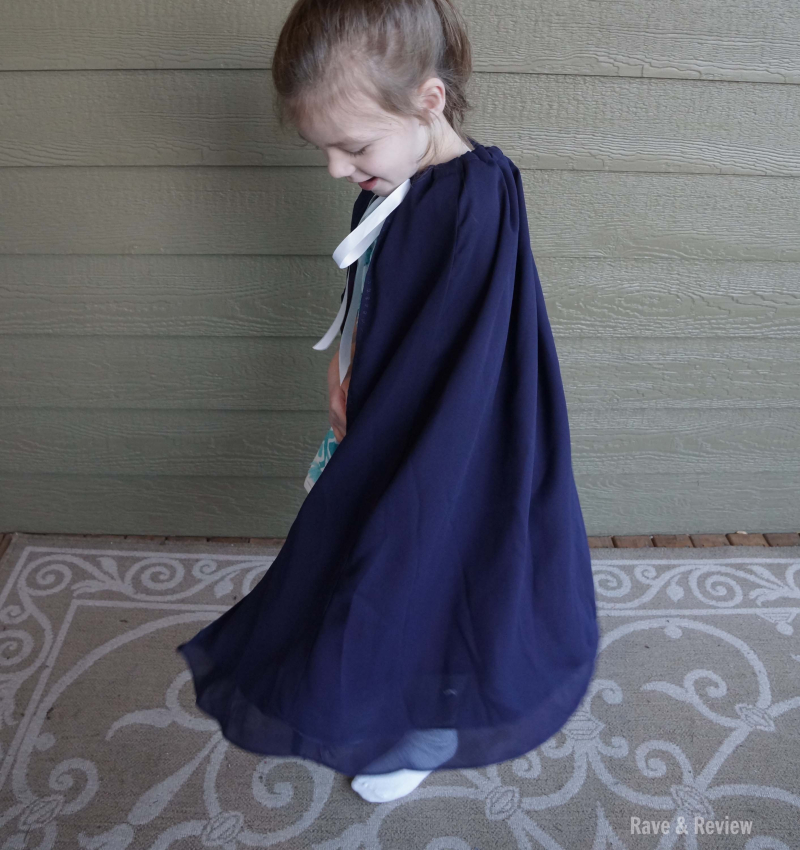Make a kids cape from a prom dress twirls