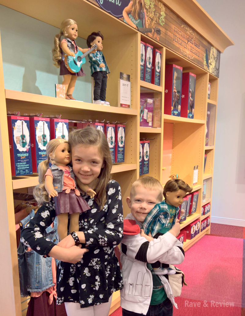 American Girl Tenney and Logan in store