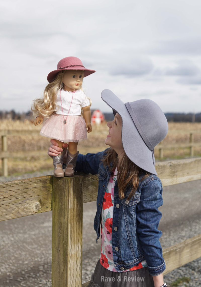 American Girl Tenney and Girl in Hat