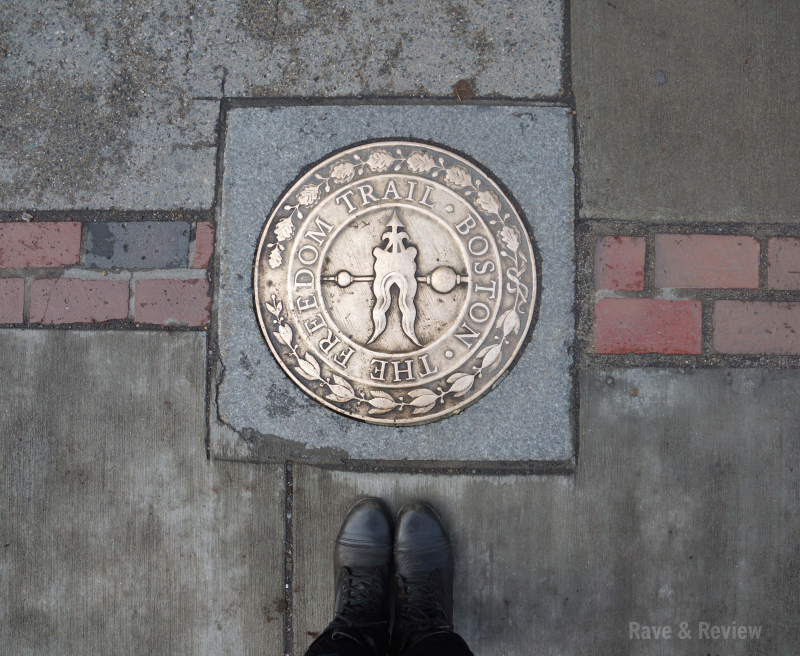 Boston Freedom Trail sidewalk marker