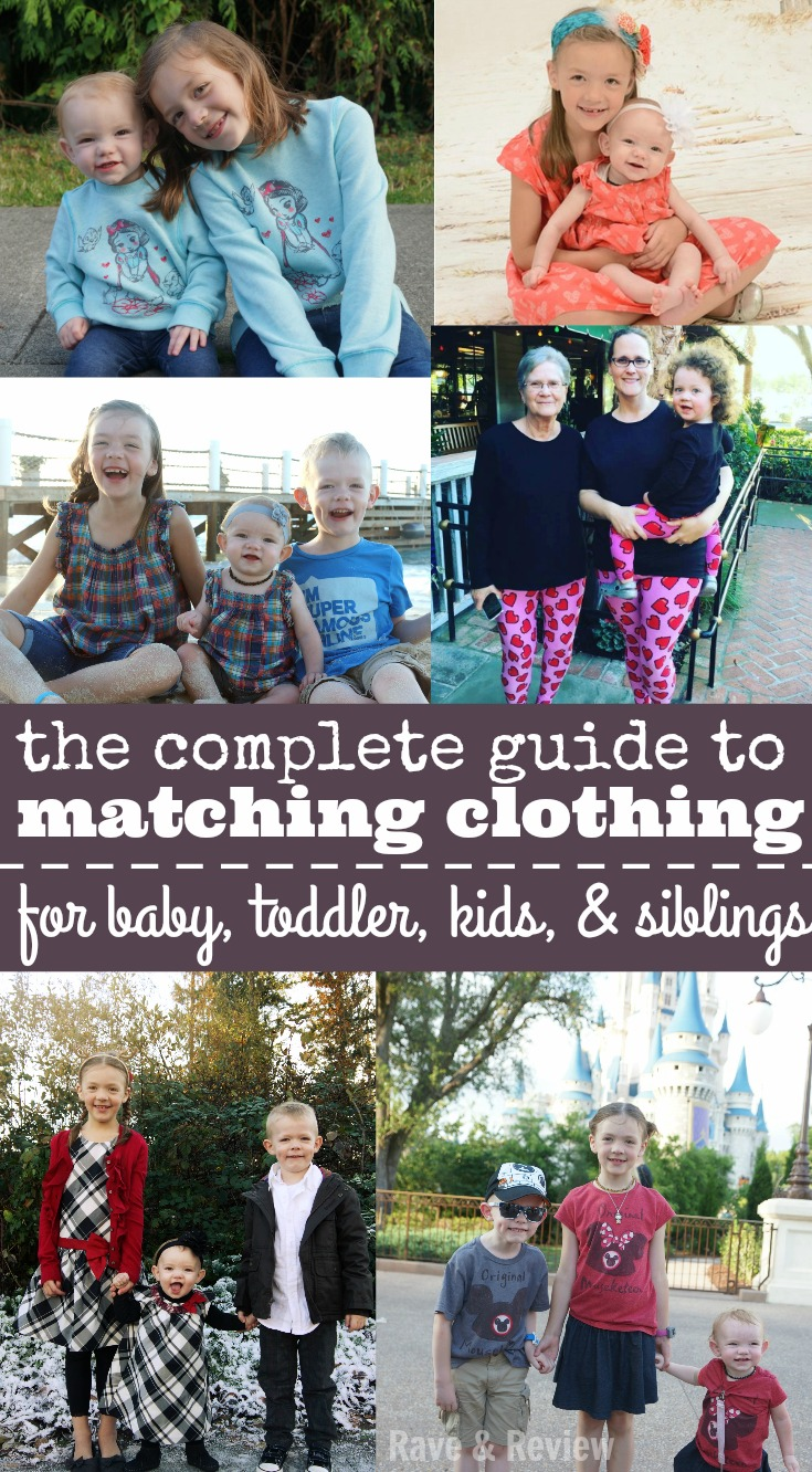 The Complete Guide to Matching CLothing for Baby Toddler Kids and Siblings