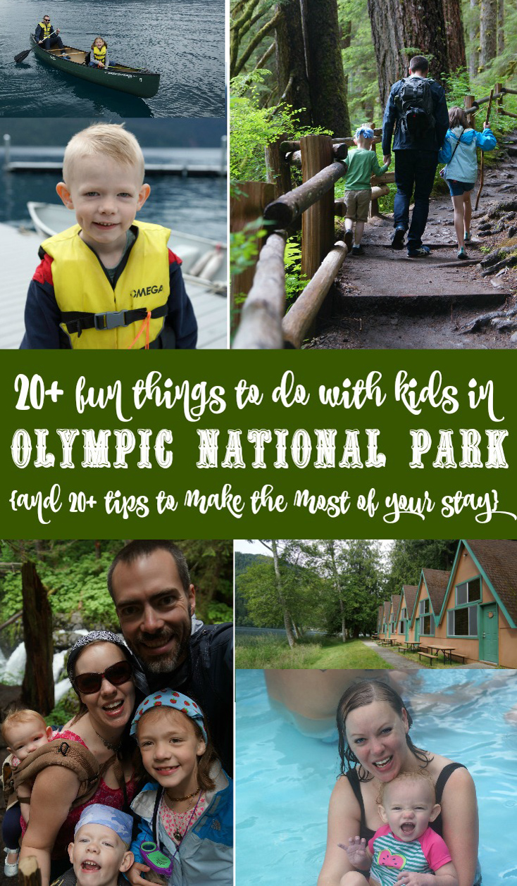 20+ fun things to do with kids in Olympic National Park and 20+ tips resized