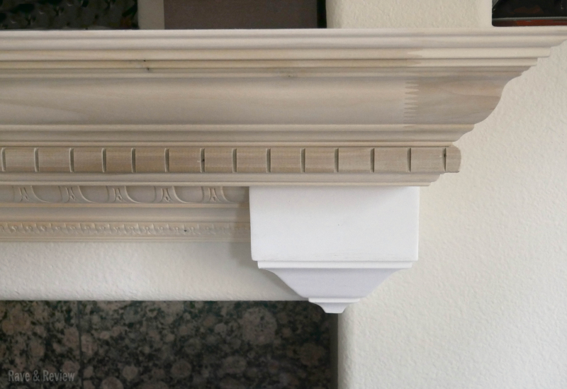 Fireplace mantle unpainted