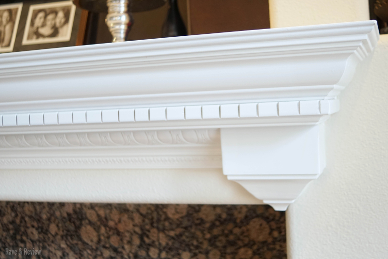 Fireplace mantle with trim