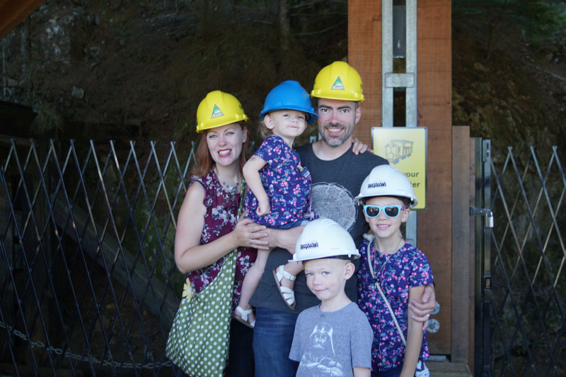 Family at Britannia Mine