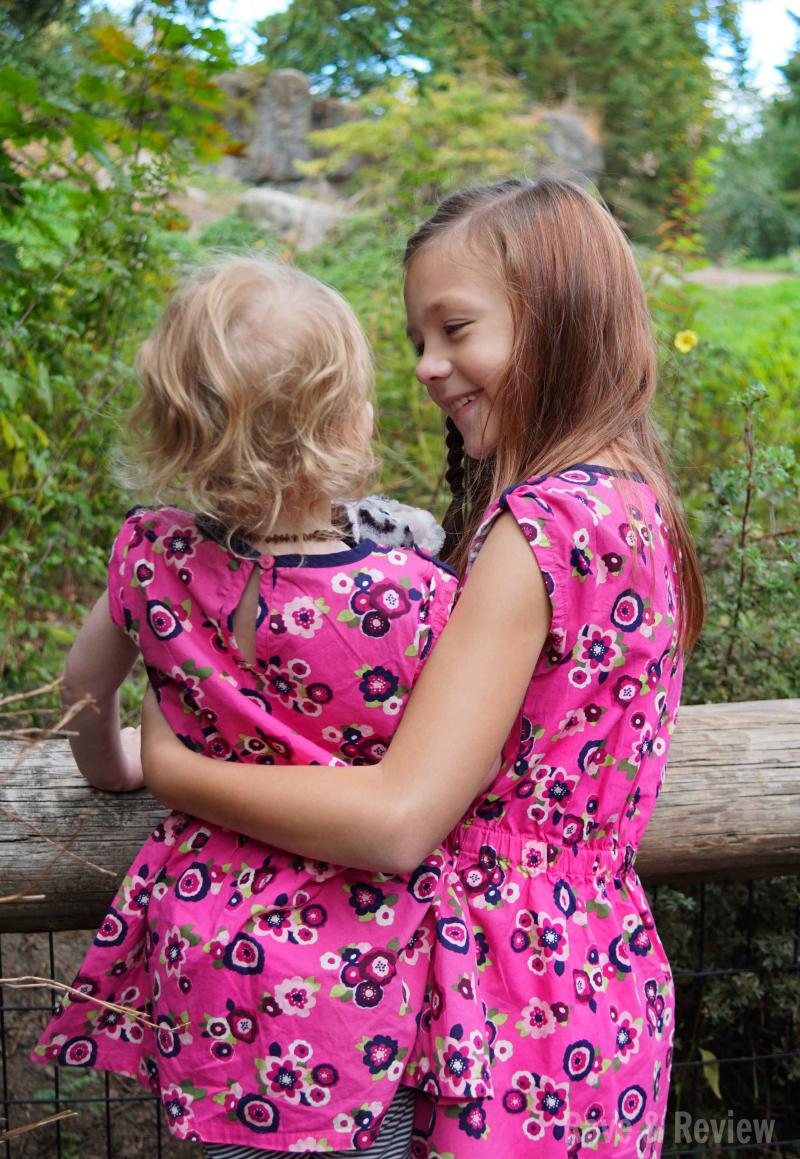 Matching Girls at zoo