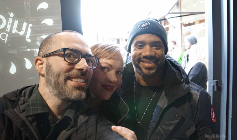 Tyler and Leanne with Russell Wilson