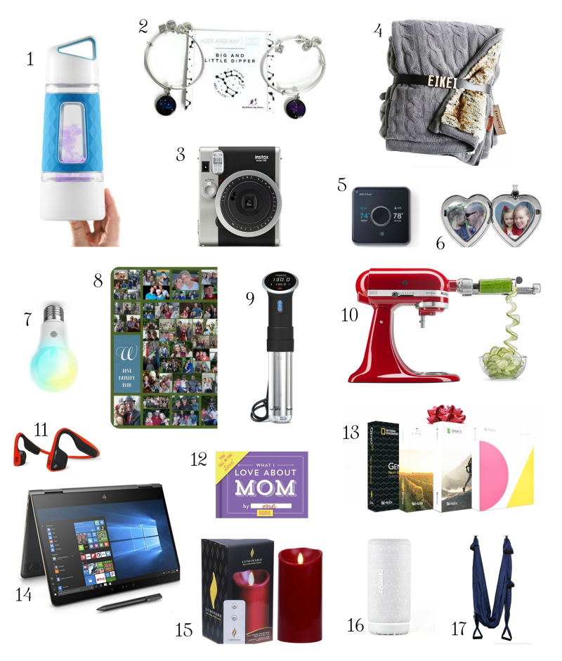 Holiday gift guide with numbers