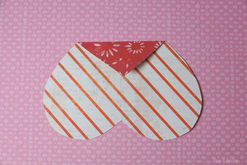 Heart envelope first fold