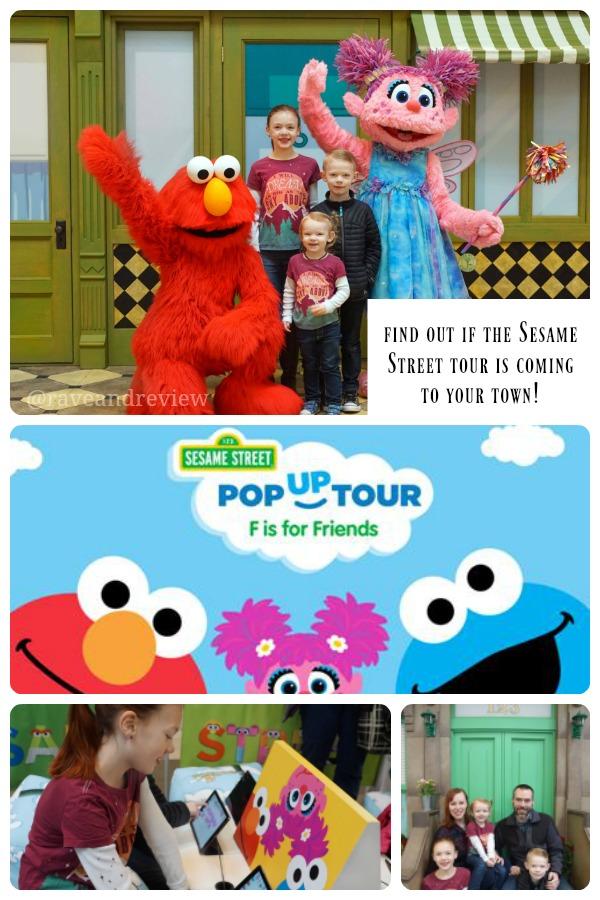 Sesame Street F is for Friends Pop Up Tour has begun